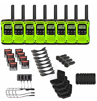 Motorola T605 Two-Way Radio 8-Pack with Accessories