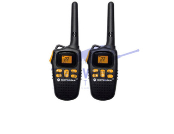 Motorola MD207R Two Way Radios with Rechargeable Battery Packs and Charging Cables