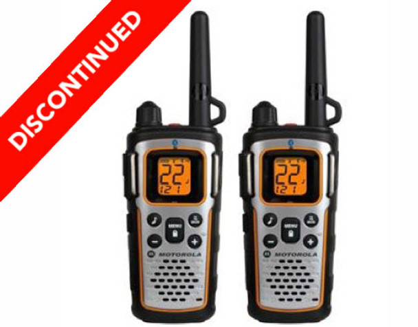 Discontinued 2 Pack Motorola MU350R Two Way Radios with Rechargeable Batteries