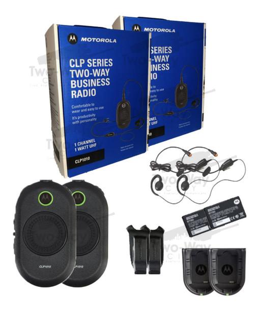 Motorola CLP1010 Two Way Radio 2-Pack