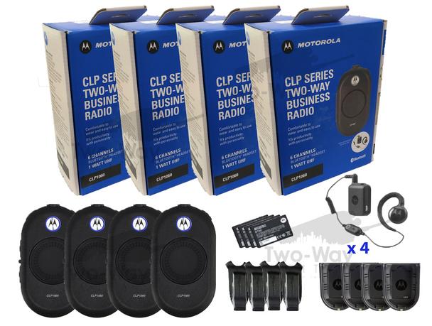 Motorola CLP1060 Two Way Radio 4-Pack