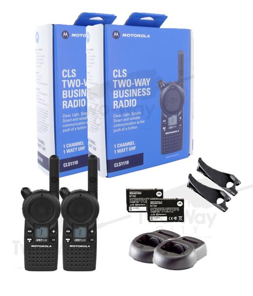 Motorola CLS1110 UHF Two Way Radio (2-Pack)