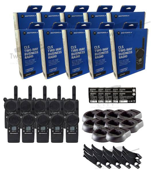 Motorola CLS1410 UHF Two Way Radio 10-Pack