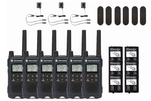 Motorola T460 Two-Way Radio 6-Pack