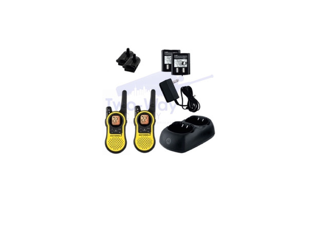 Motorola MH230R Two Way Radio with Charger and Rechargeable Battery Packs