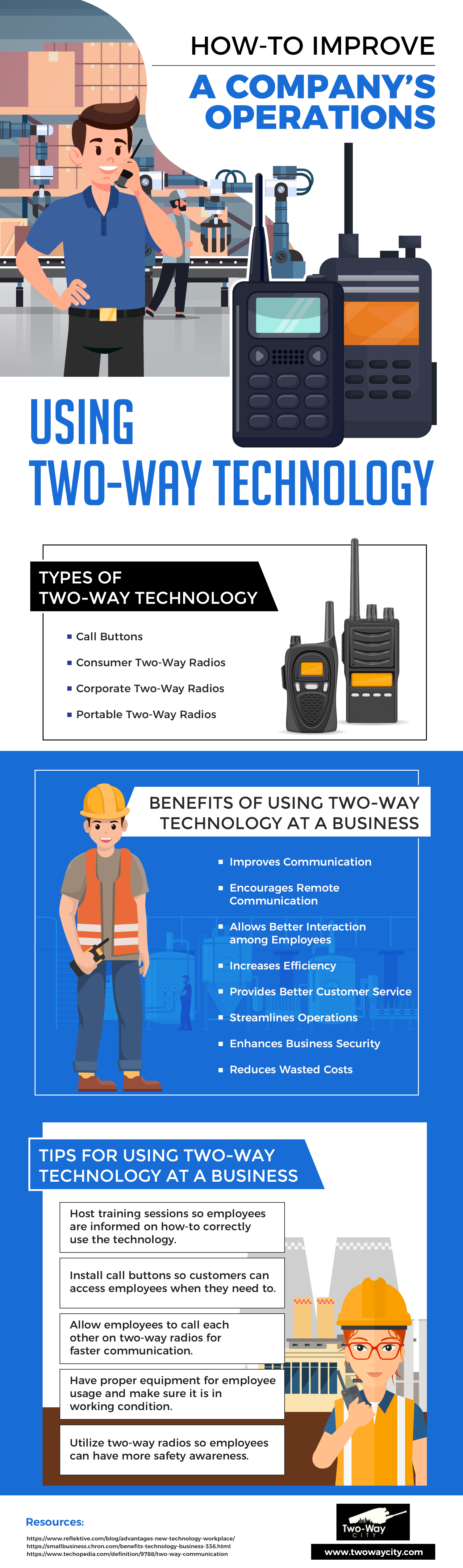 how to improve a companys operations using two way technology