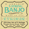 D'addario J55 Phosphor Bronze Wound Banjo Strings
