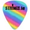 Strings.ie Rainbow Celluloid Plectrum 10-Pack