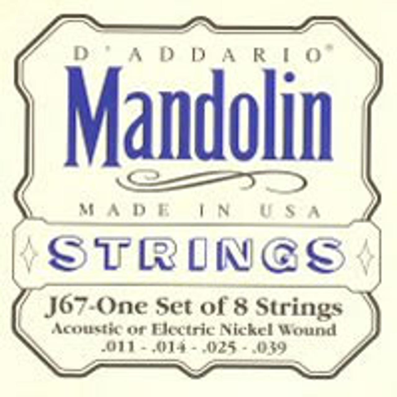 D'addario J67 Nickel Wound Mandolin Strings (011-039)