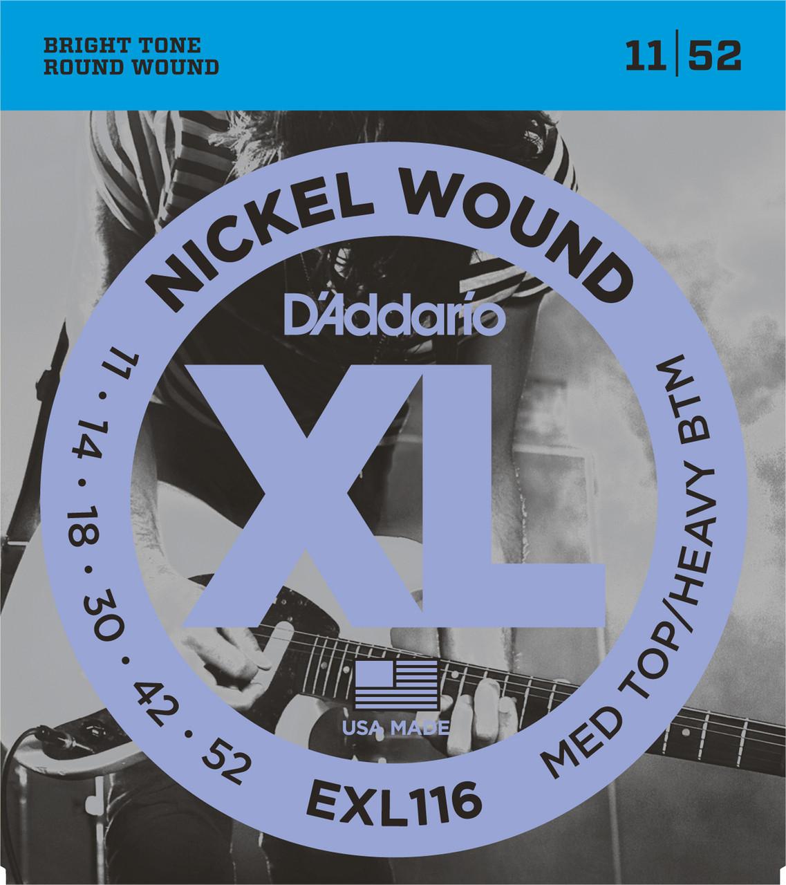 D'addario EXL116 Electric Guitar Strings (11-52)