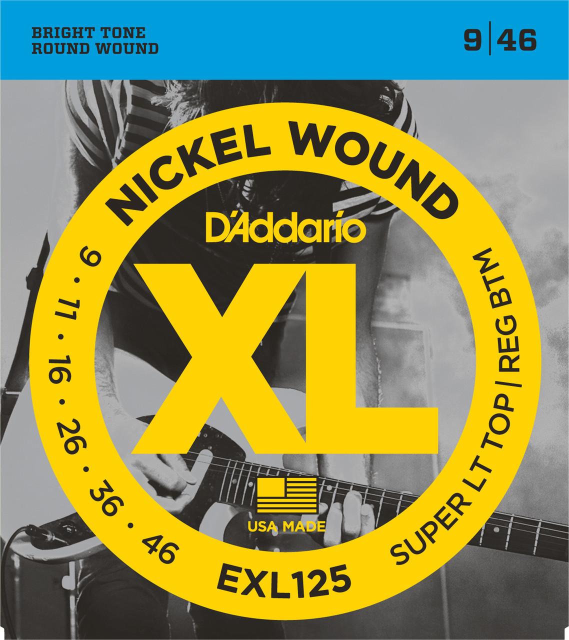 D'addario EXL125 Electric Guitar Strings (9-46)