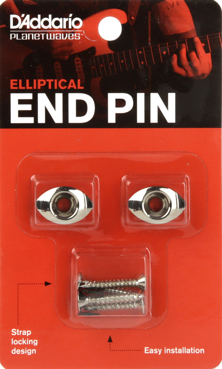 Planet Waves Chrome Elliptical End Pins