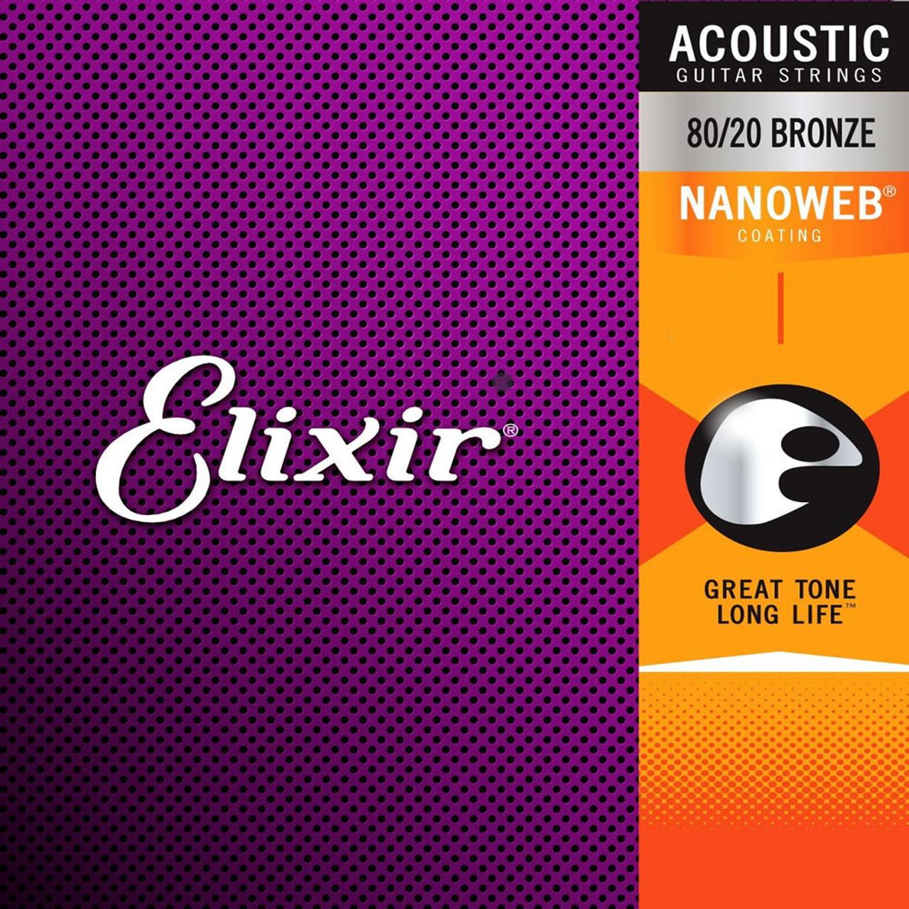 Elixir Nanoweb Bronze Acoustic Guitar Strings Ireland