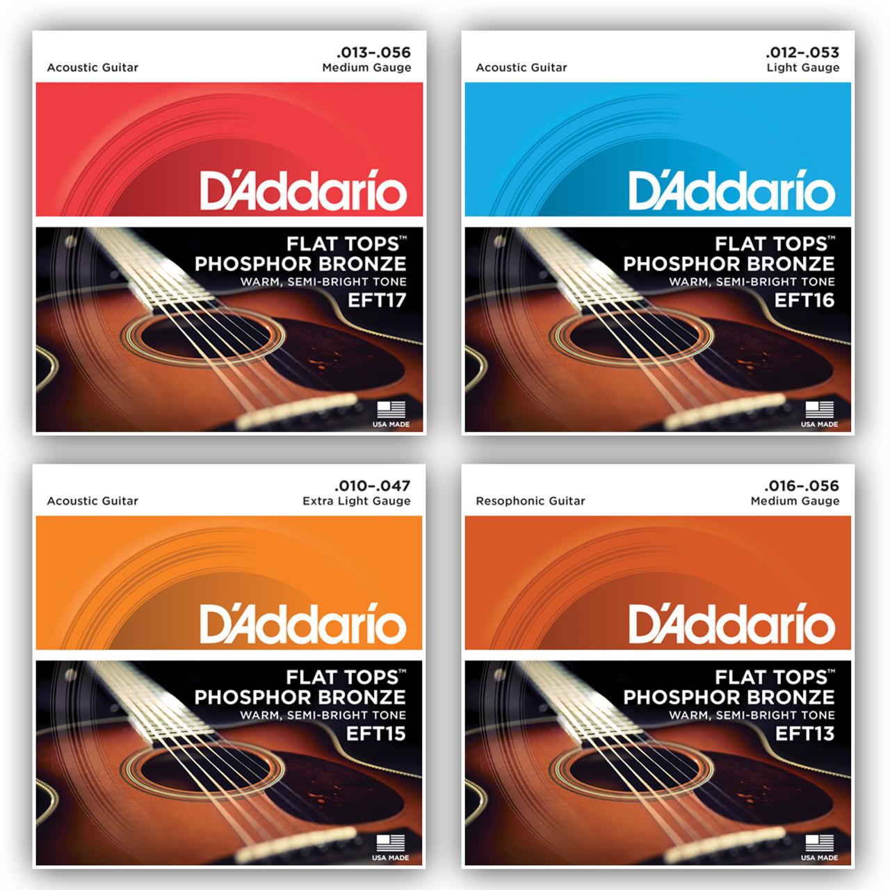 D'addario EFT Flat Tops Acoustic Guitar Strings