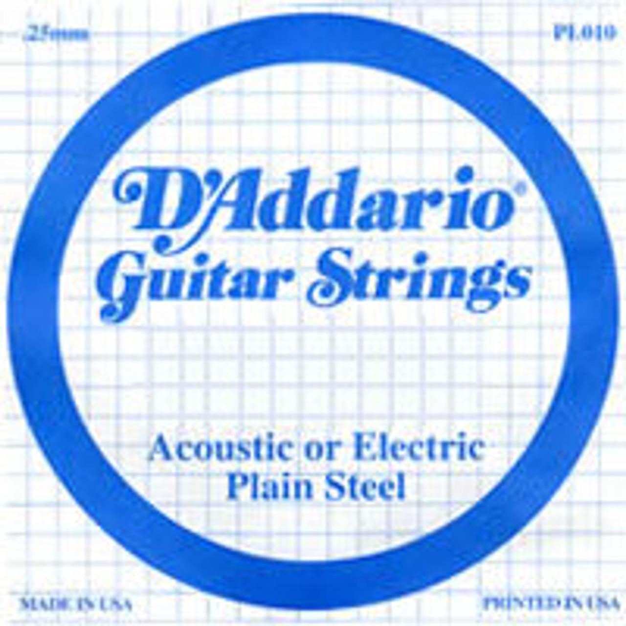 D'addario Plain Ball End Single Strings