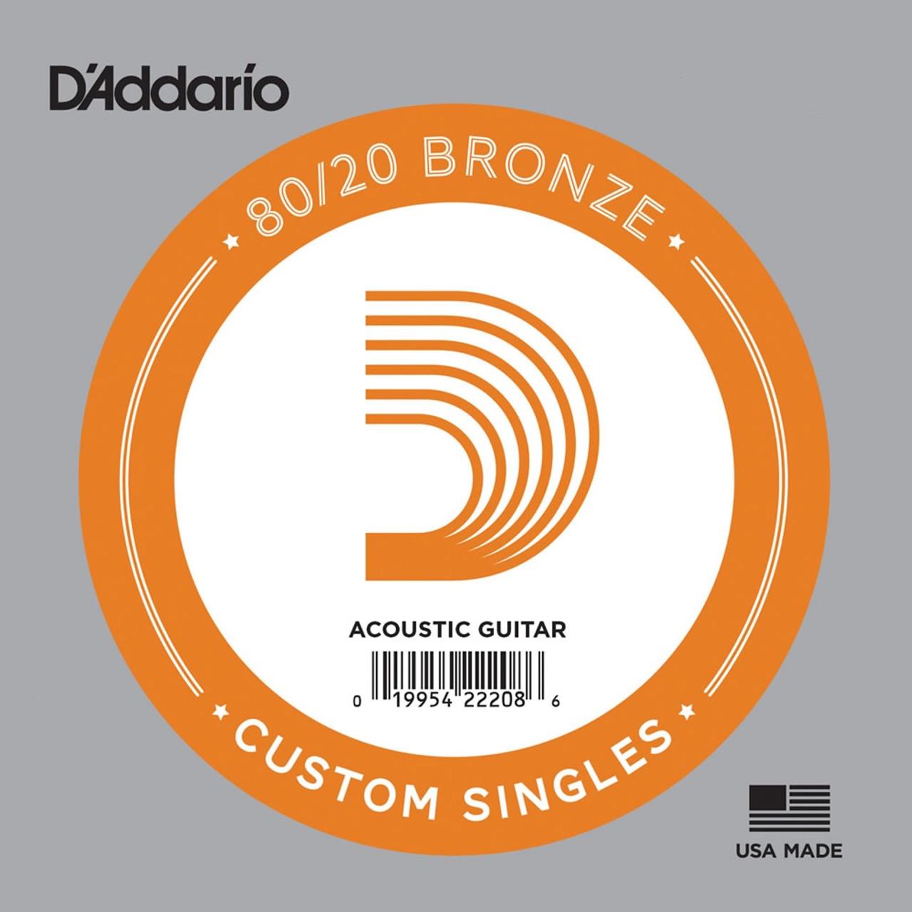 D'addario Bronze Wound Single Strings Ireland