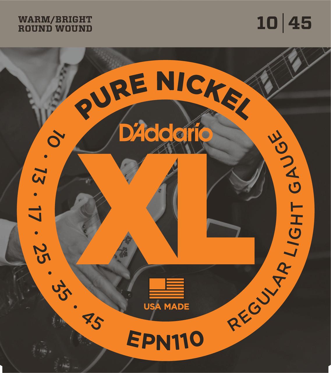 Daddario EPN110 Pure Nickel Electric Guitar Strings
