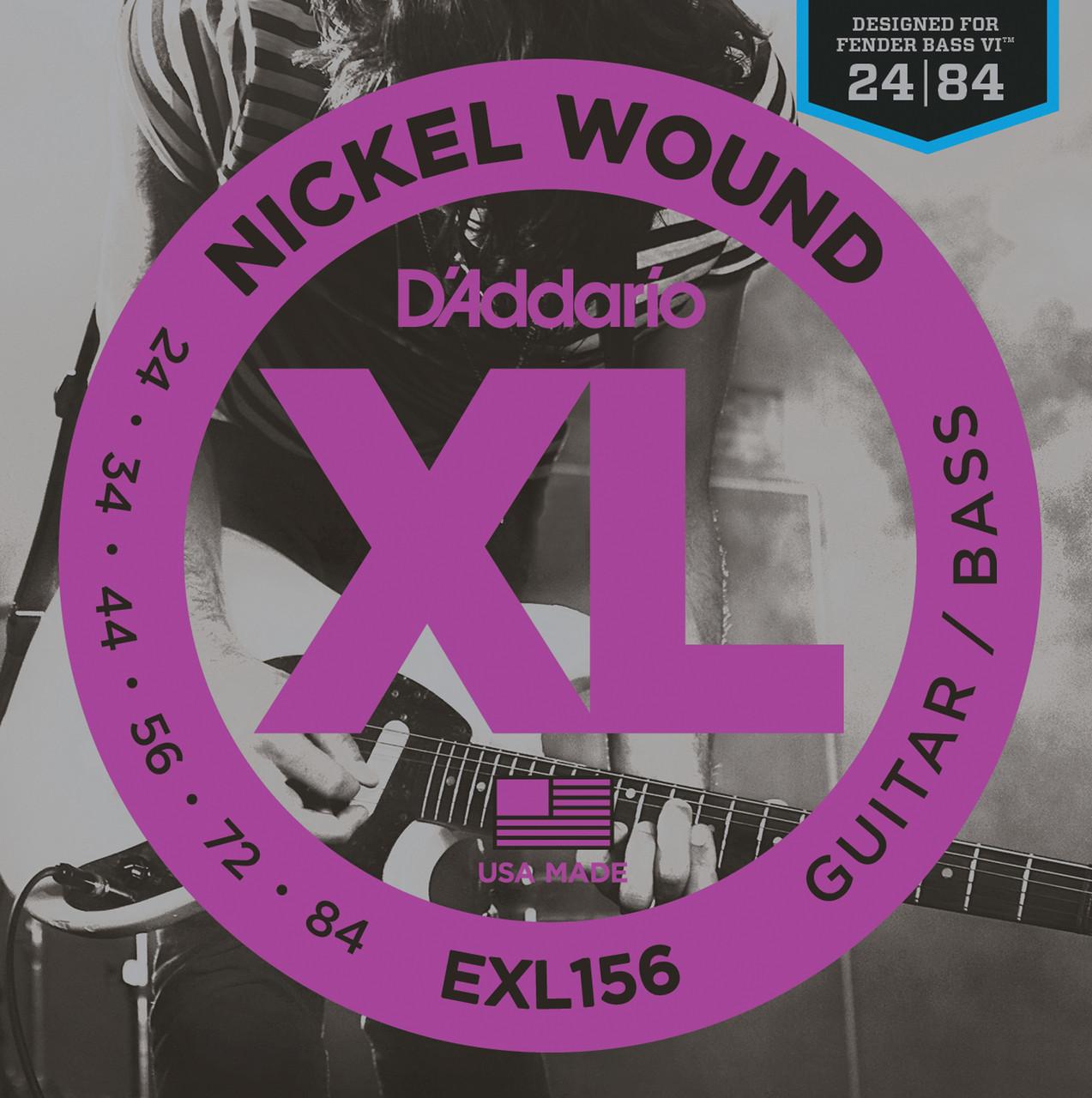 D'addario XL156 Baritone Electric Guitar Strings