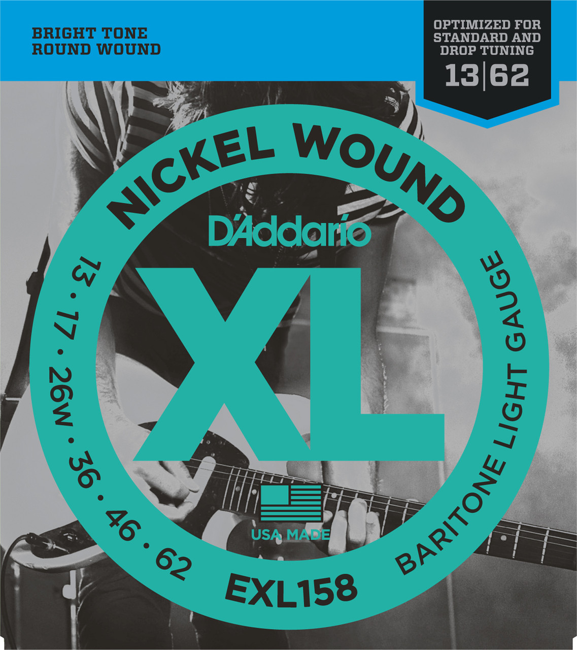 D'addario XL158 Baritone Electric Guitar Strings