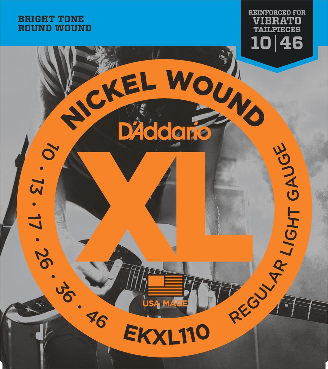 D'addario EKXL110 Kahler Electric Guitar Strings