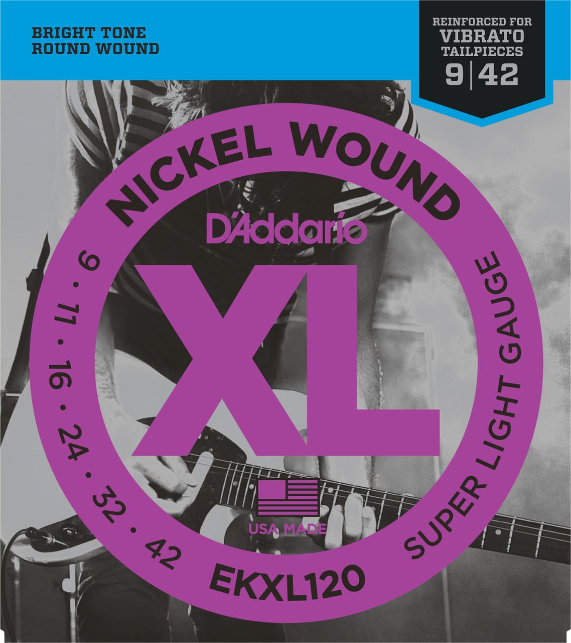 D'addario EKXL120 Kahler Electric Guitar Strings