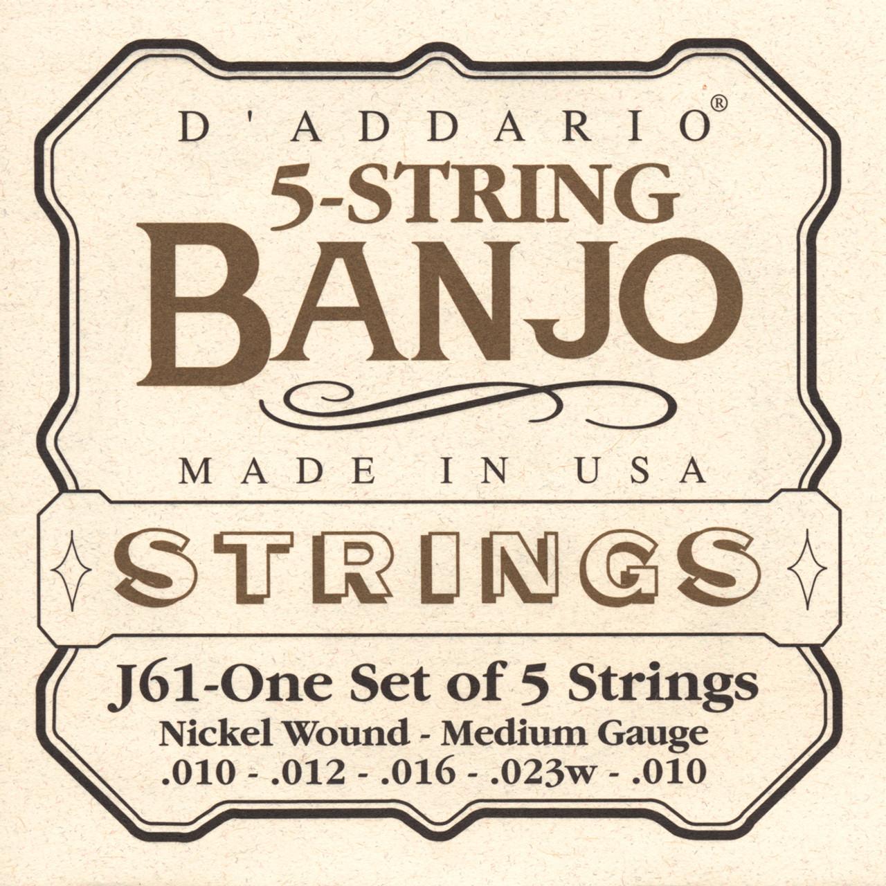 D'addario J61 Nickel Wound Banjo Strings