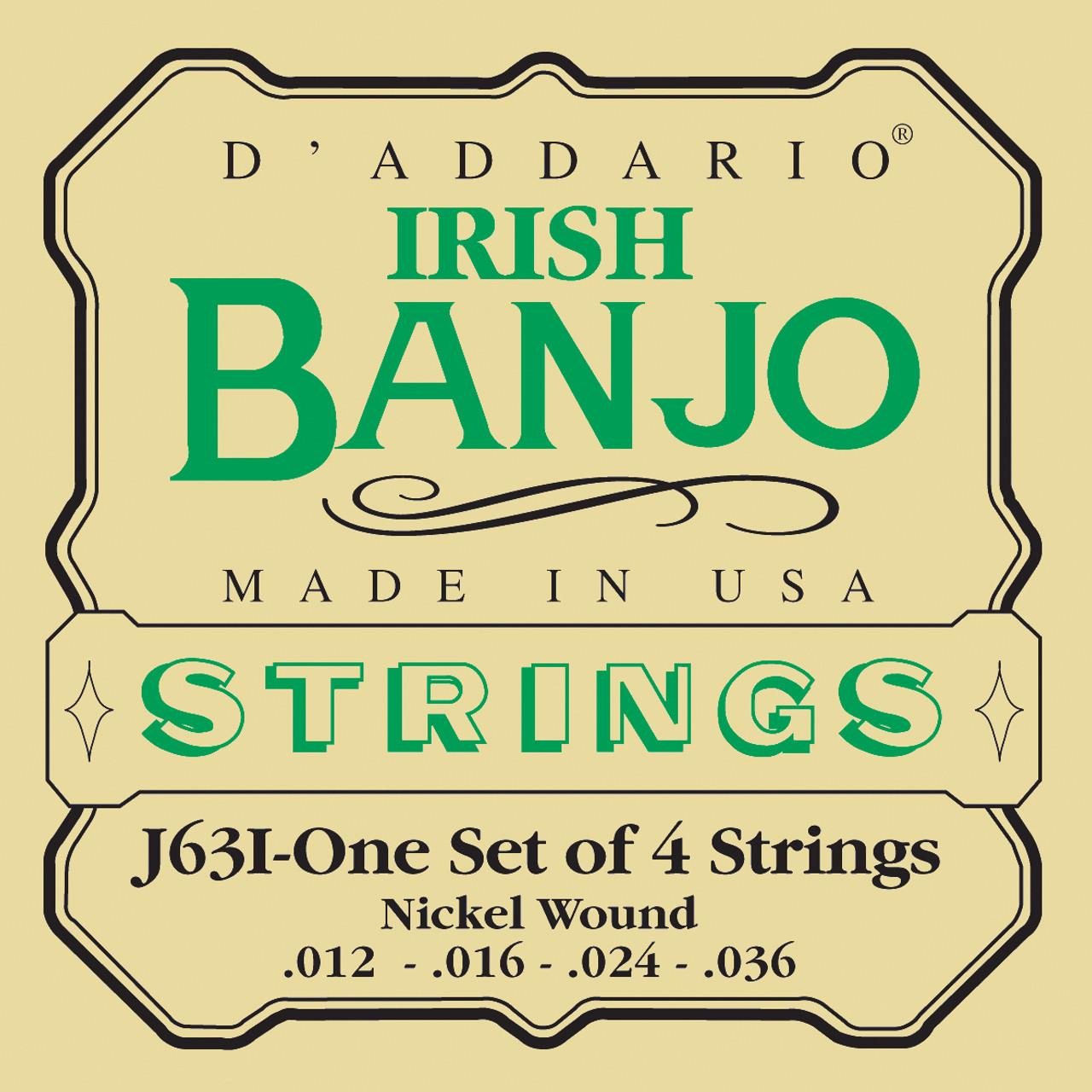 D'addario J63I Nickel Wound Banjo Strings