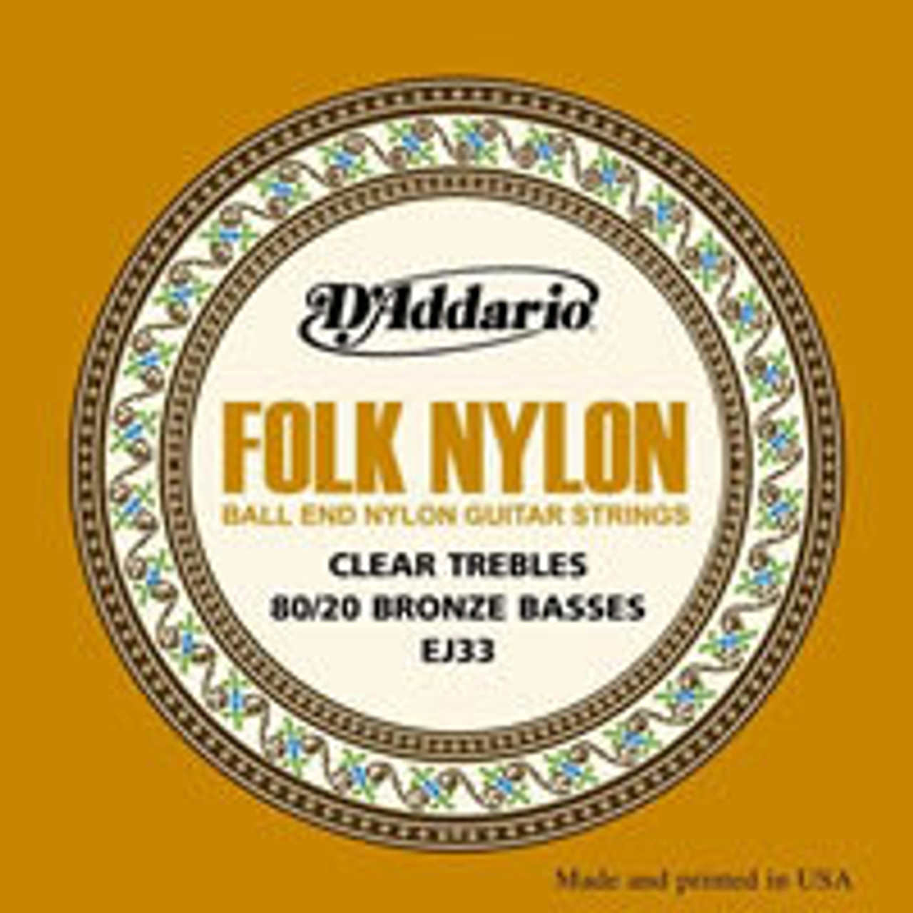 D'addario Folk Nylon Ball End Guitar Strings