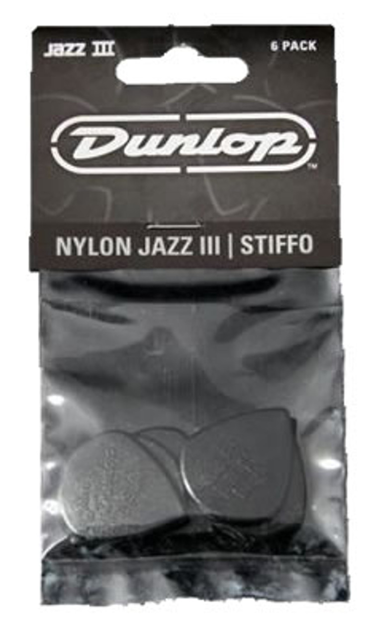 Dunlop Jazz III XL Nylon Stiffo Black Plectrum
