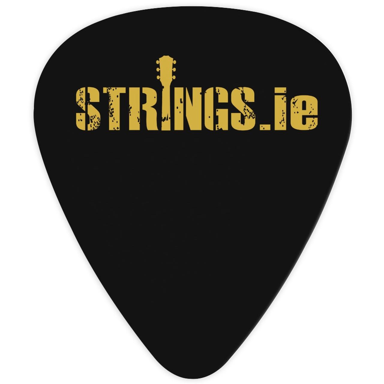 Strings.ie Black Celluloid Plectrum 10-Pack