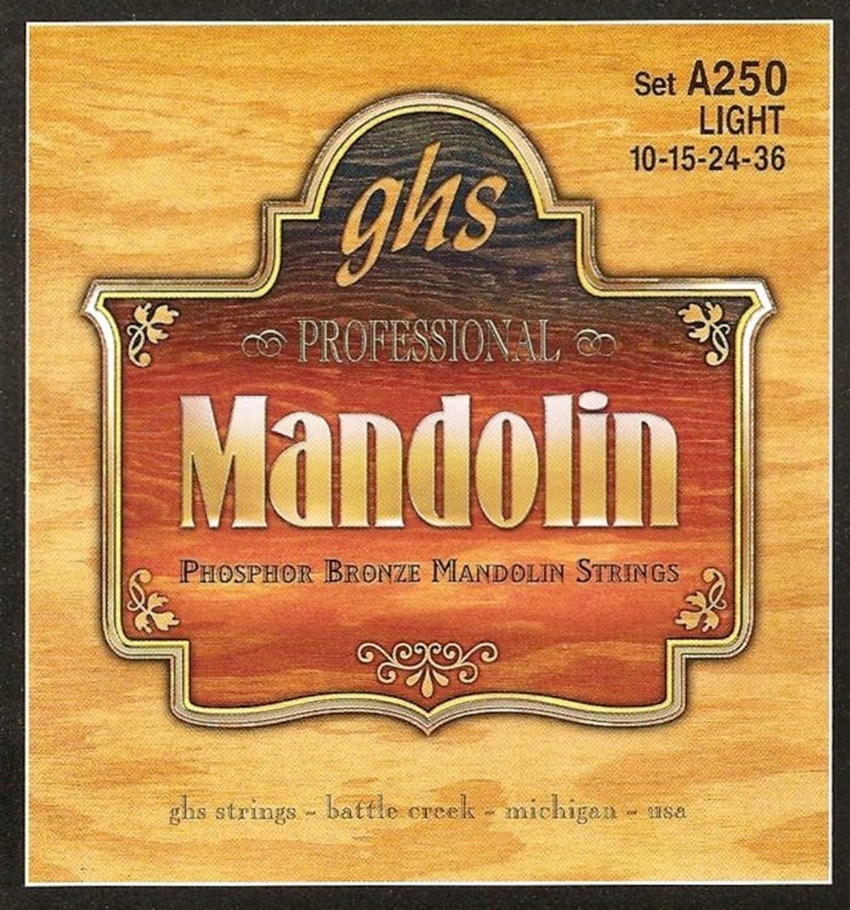 GHS A250 Mandolin Strings 10-36