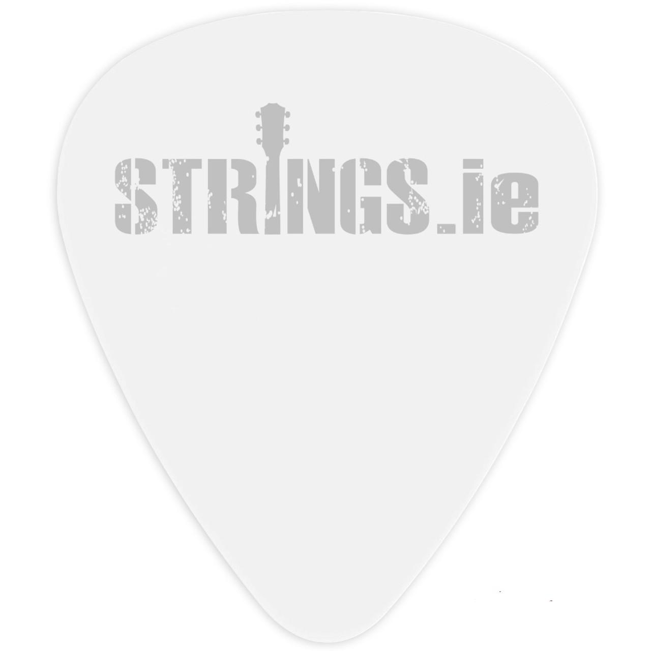 Strings.ie White Celluloid Plectrum Ireland