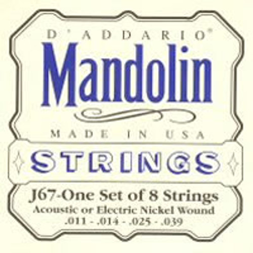 D'addario J67 Nickel Wound Mandolin Strings (011-039)