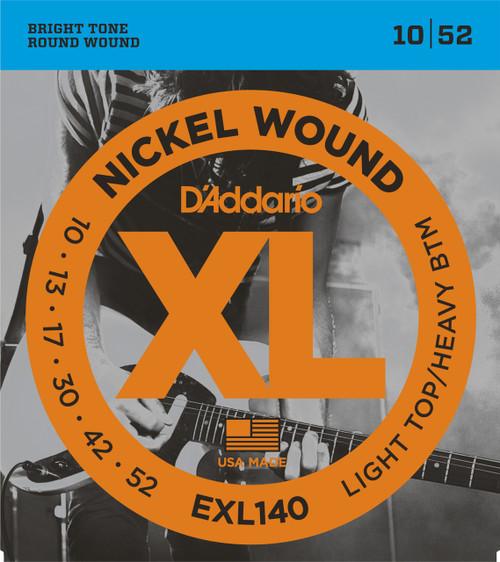 D'addario EXL140 Light Top/Heavy Bottom Gauge 10-52