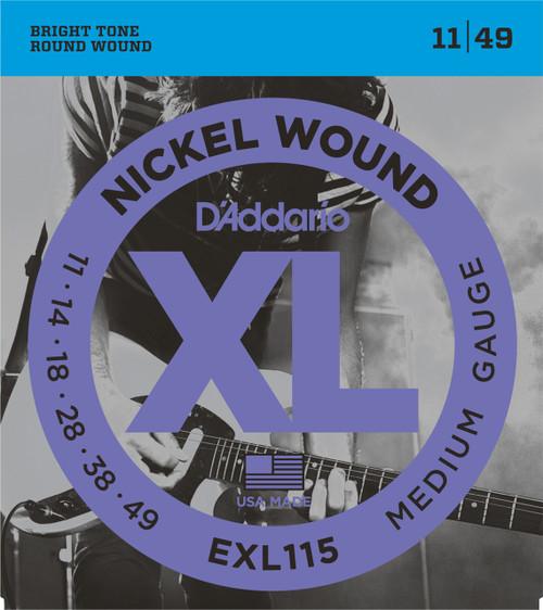 D'addario EXL115 Electric Guitar Strings (11-49)