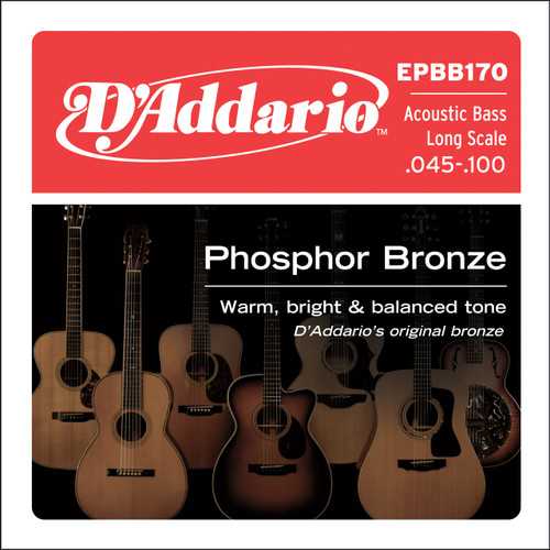 D'addario EPBB170 Acoustic Bass Guitar Strings 45-100