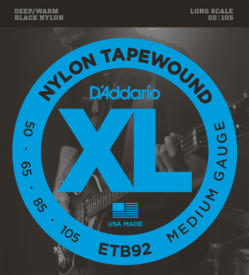D'addario ETB92 Nylon Tapewound Bass Guitar Strings 50-105