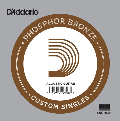 D'addario Phosphor Bronze Wound Single Strings Ireland