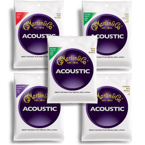 Martin 80/20 Bronze Acoustic Guitar Strings