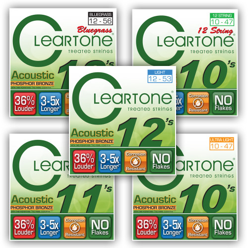 Cleartone Phoshphor Bronze Acoustic Guitar Strings