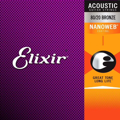 Elixir 12152 Nanoweb Heavy Electric Guitar Strings 12-Pack 12-16-24-32-42-52