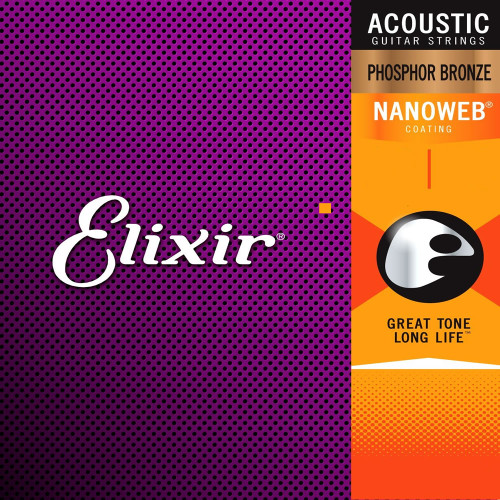 Elixir Nanoweb Phosphor Bronze Acoustic Guitar Strings Ireland