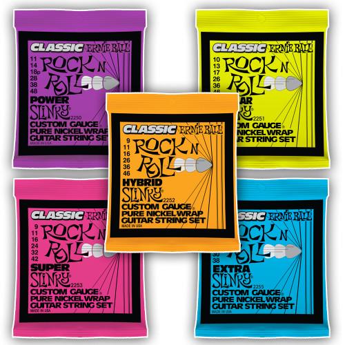 Ernie Ball Classic Pure Nickel Rock N Roll Electric Guitar Strings