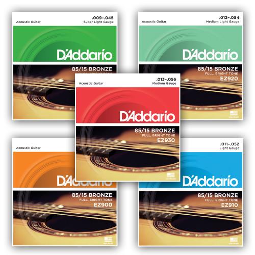 D'addario 85/15 American Bronze Acoustic Guitar Strings