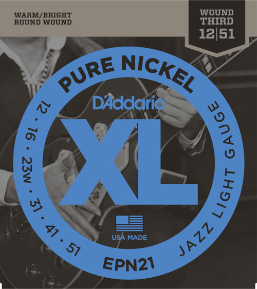 Daddario EPN21 Pure Nickel Electric Guitar Strings
