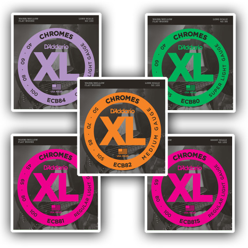 D'addario Chromes Bass Guitar Strings