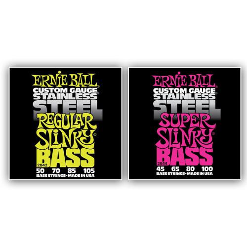 Ernie Ball Stainless Steel Bass Guitar Strings
