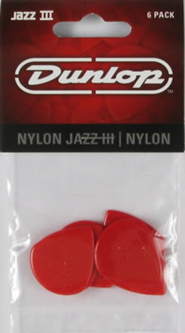Dunlop Jazz III XL Nylon Red Plectrum