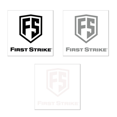 "First Strike 3"" Decal / 3 - Pack"