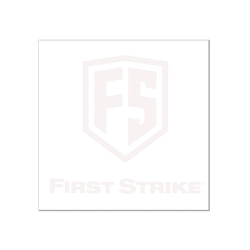 "First Strike 6"" Decal / White"